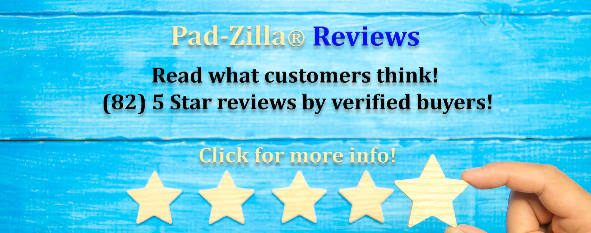 Pad-Zilla® Giant Mouse Pads Verified Buyer Reviews - As Always!